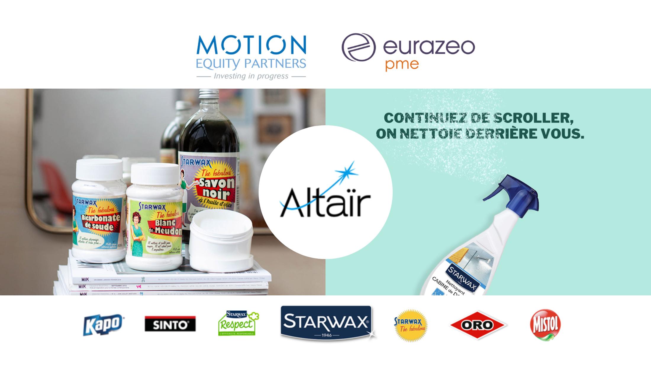 Motion Equity Partners annonce la signature d'un accord d'exclusivité avec Eurazeo PME en vue de la cession de sa participation dans le Groupe Altaïr.