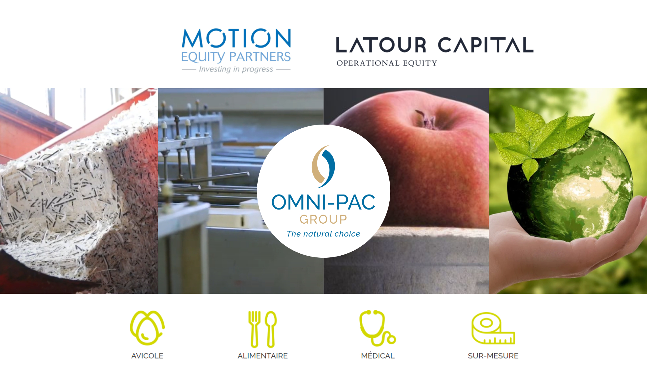 Motion Equity Partners annonce la signature d'un accord d'exclusivité avec Latour Capital en vue de la cession de sa participation dans Omni-Pac Group